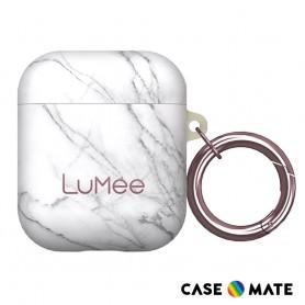美國 LuMee AirPods 時尚質感保護套 - 白大理石