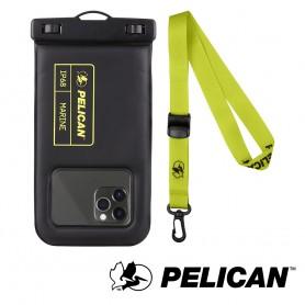 美國 Pelican 派力肯 Marine 陸戰隊防水飄浮手機袋 - 黑/萊姆綠色