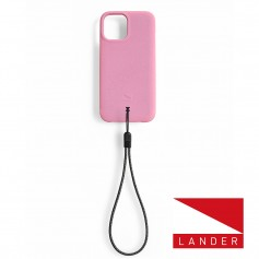 美國 Lander iPhone 12 / 12 Pro Torrey 極致手感防摔殼 - 櫻花粉 (附手繩)