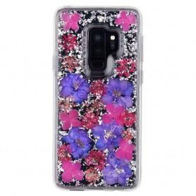 美國 Case-Mate Samsung S9 Plus Karat Petals 璀璨真實花朵防摔手機保護殼 - 紫