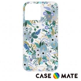美國 Rifle Paper Co. x CM 限量聯名款 iPhone 12 mini 抗菌防摔殼 - 花園派對 - 藍