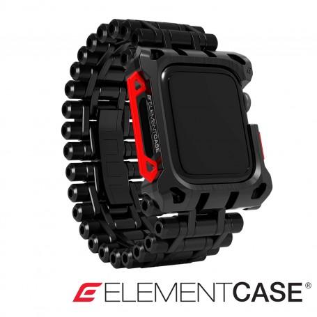 分享 美國 Element Case Black Ops Apple Watch 4-6/SE 44mm 黑色行動頂級限量保護殼錶帶 - 黑