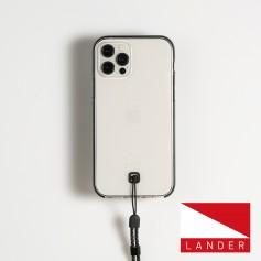 美國 Lander iPhone 12/12 Pro Glacier 環保防摔殼 - 透明/黑
