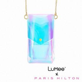 美國 LuMee x 芭黎絲希爾頓聯名限量款 絢麗透視派對包 - 彩虹雷射