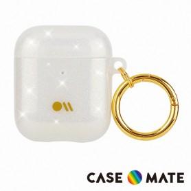 美國 CASE●MATE AirPods 1-2代 閃亮抗菌保護殼贈掛環 - 鑽彩