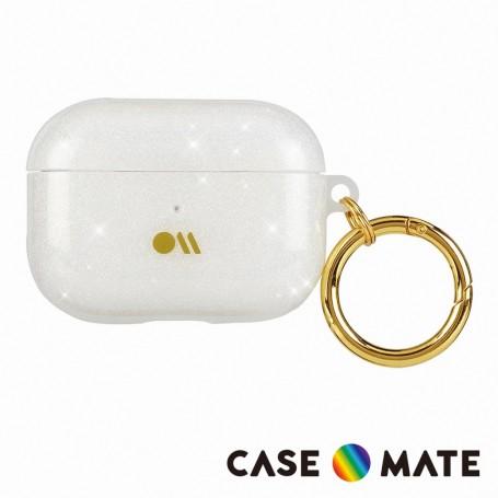美國 CASE●MATE AirPods Pro 閃亮抗菌保護殼贈掛環 - 鑽彩
