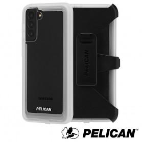 美國 Pelican 派力肯 三星 S21+ 專用防摔抗菌手機保護殼 Voyager 航海家 - 透明