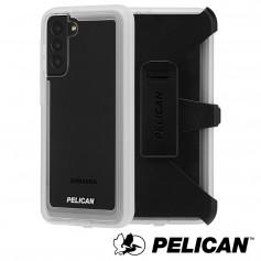 美國 Pelican 派力肯 三星 S21 Ultra 專用防摔抗菌手機保護殼 Voyager 航海家 - 透明