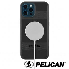 美國 Pelican 派力肯 iPhone 12 Pro Max 防摔抗菌手機保護殼 Protector 保護者MagSafe專用版 - 黑
