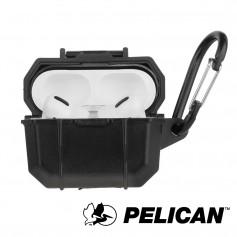 美國 Pelican 派力肯 AirPods Pro Marine 陸戰隊防水防摔保護殼- 黑色