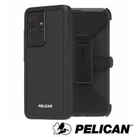 美國 Pelican 派力肯 三星 S21 Ultra 專用防摔抗菌手機保護殼 Voyager 航海家 - 黑框