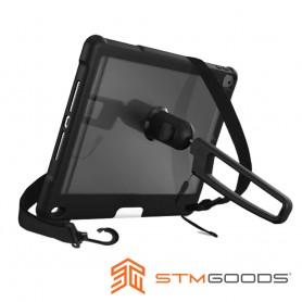 STM Dux Grip for iPad 10.2吋 (第7/8代) 專用手持肩背軍規防摔平板保護殼 - 黑