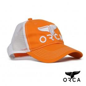 美國ORCA殺人鯨個性透氣棒球帽 - 橘色 Free Size