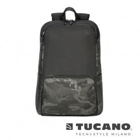 義大利 TUCANO Terras 城市冒險背包 15吋- 黑色迷彩