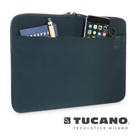 義大利 TUCANO Top 頂級防滑落筆電袋 13吋 - 石油藍色
