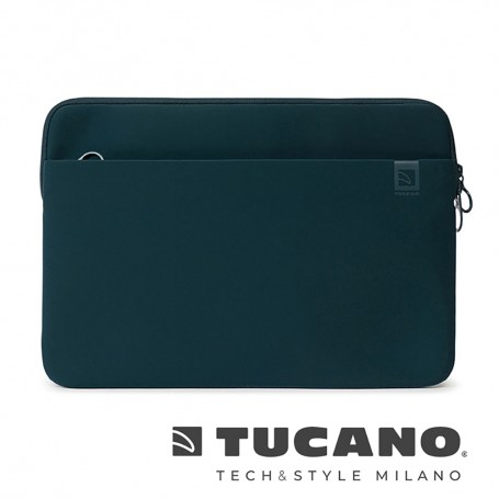 義大利 TUCANO Top 頂級防滑落筆電袋 16吋 - 石油藍色