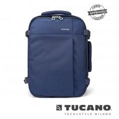 義大利 TUCANO Tugo 商務旅行防撥水後背包 15吋 - 藍色
