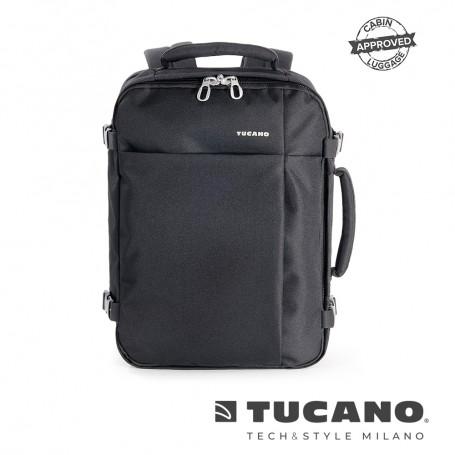 義大利 TUCANO Tugo 商務旅行防撥水後背包 15吋 - 黑色