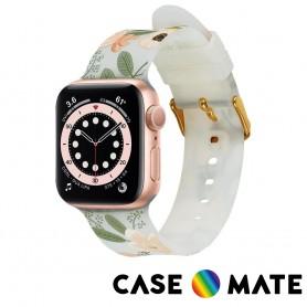美國 Rifle Paper Co. x CM 限量聯名款 Apple Watch 42-44mm 錶帶 - 花園派對 - 粉