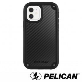 美國 Pelican 派力肯 iPhone 12 mini 防摔抗菌手機保護殼 Shield 凱夫勒背板防護盾 - 黑