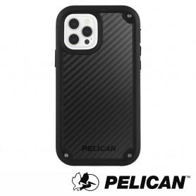 美國 Pelican 派力肯 iPhone 12 Pro Max 防摔抗菌手機保護殼 Shield 凱夫勒背板防護盾 - 黑