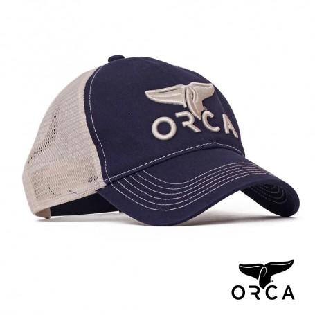 美國ORCA殺人鯨個性透氣棒球帽 - 深藍色 Free Size