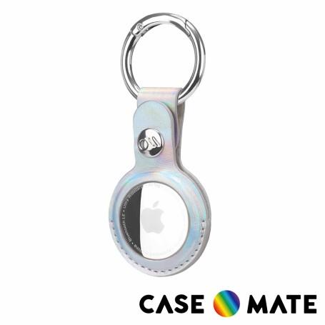 美國 Case●Mate AirTag Clip Ring 專用耐水成質皮吊飾鑰匙圈 - 時尚彩虹