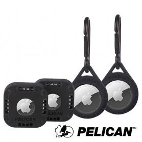 美國 Pelican 派力肯 AirTag 專用防護套裝 - 超值四入組
