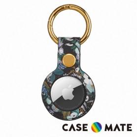 美國 Case●Mate x Rifle Paper Co. AirTag專用吊飾鑰匙圈 - 花園派對 - 藍