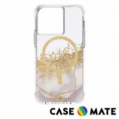 美國 Case●Mate iPhone 12/12 Pro/13/13 Pro Karat Marble 鎏金石紋防摔抗菌MagSafe版手機保護殼