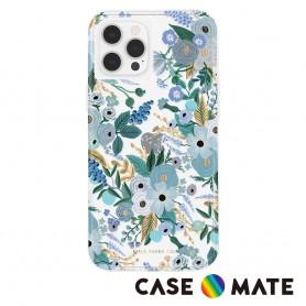 美國 Rifle Paper Co. x CM 限量聯名款 iPhone 13 mini 抗菌防摔殼 - 花園派對 - 藍