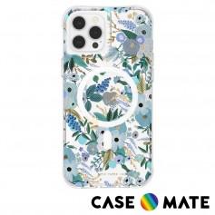 美國 Rifle Paper Co. x CM 聯名款 iPhone 13 Pro Max 防摔抗菌殼MagSafe版-花園派對-藍