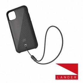 美國 Lander iPhone 13 Pro Max Torrey 圓石極致手感防摔殼 - 星空黑 (附手繩)