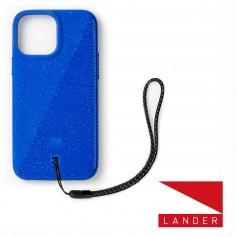 美國 Lander iPhone 13 Pro Max Torrey 圓石極致手感防摔殼 - 藍 (附手繩)