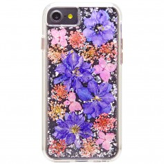 美國 Case-Mate iPhone 8 / 7 Karat Petals 璀璨真實花朵防摔手機保護殼 - 紫