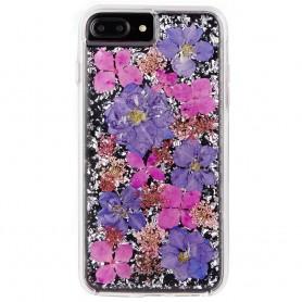 美國 Case-Mate iPhone 8 Plus / 7 Plus Karat Petals 璀璨真實花朵手機保護殼 - 紫