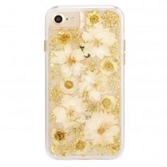 """美國 Case-Mate iPhone 8/7 (4.7"""") 璀璨真實花朵防摔手機保護殼 - 古典白"""