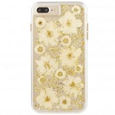 """美國 Case-Mate iPhone 8 Plus/7 Plus (5.5"""") Karat Petals 璀璨真實花朵防摔手機保護殼 - 古典白"""