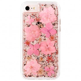 """美國 Case-Mate iPhone 8/7 (4.7"""") Karat Petals 璀璨真實花朵防摔手機保護殼 - 粉紅"""