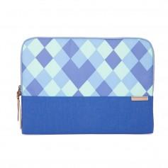 澳洲 STM Grace Sleeve 15吋時尚菱格紋筆電袋 - 藍色