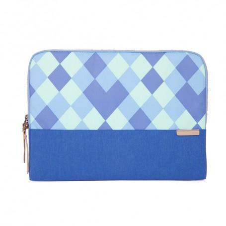 澳洲 STM Grace Sleeve 13吋時尚菱格紋筆電袋 - 藍色