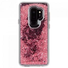 """美國 Case-Mate Samsung Galaxy S9 Plus (6.2"""") Waterfall 亮粉瀑布防摔手機保護殼 - 玫瑰金"""